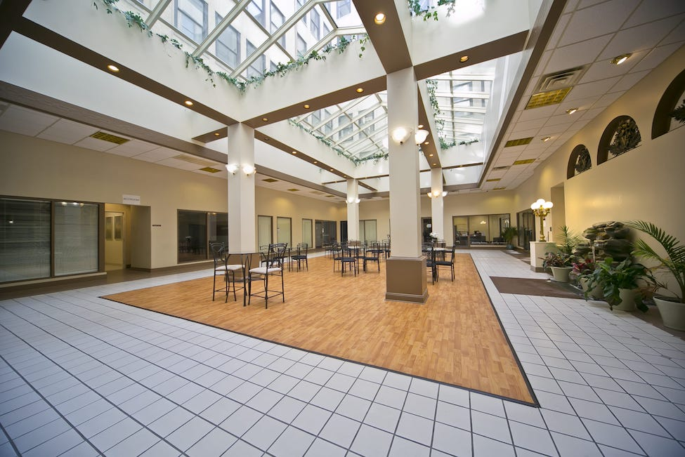 Atrium at the Union Building in Anderson Indiana